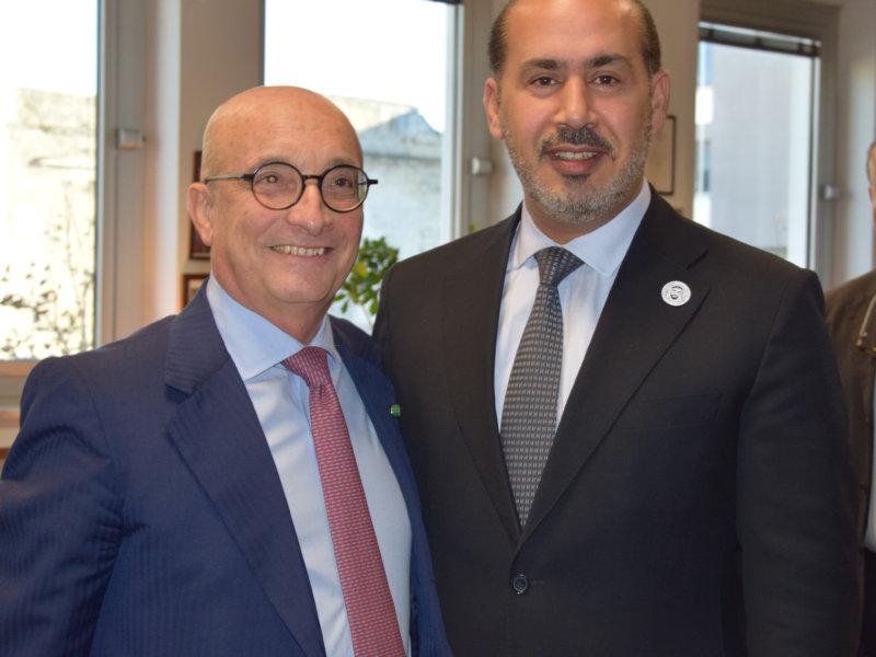 Luigi Carrino, Presidente del DAC con l'Ambasciatore in Italia degli Emirati Arabi, SE Saqer Nasser Al Rissi