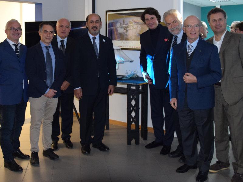 Il team del progetto SMS con l'Ambasciatore in Italia degli Emirati Arabi, SE Saqer Nasser Al Rissi