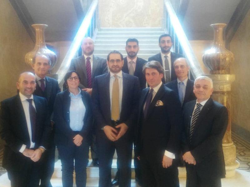 Incontro della delegazione ALI presso l'ambasciata italiana degli Emirati Arabi Uniti